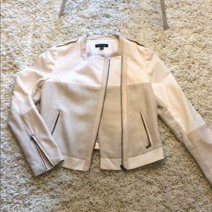 White Motorcycle Like Jacket